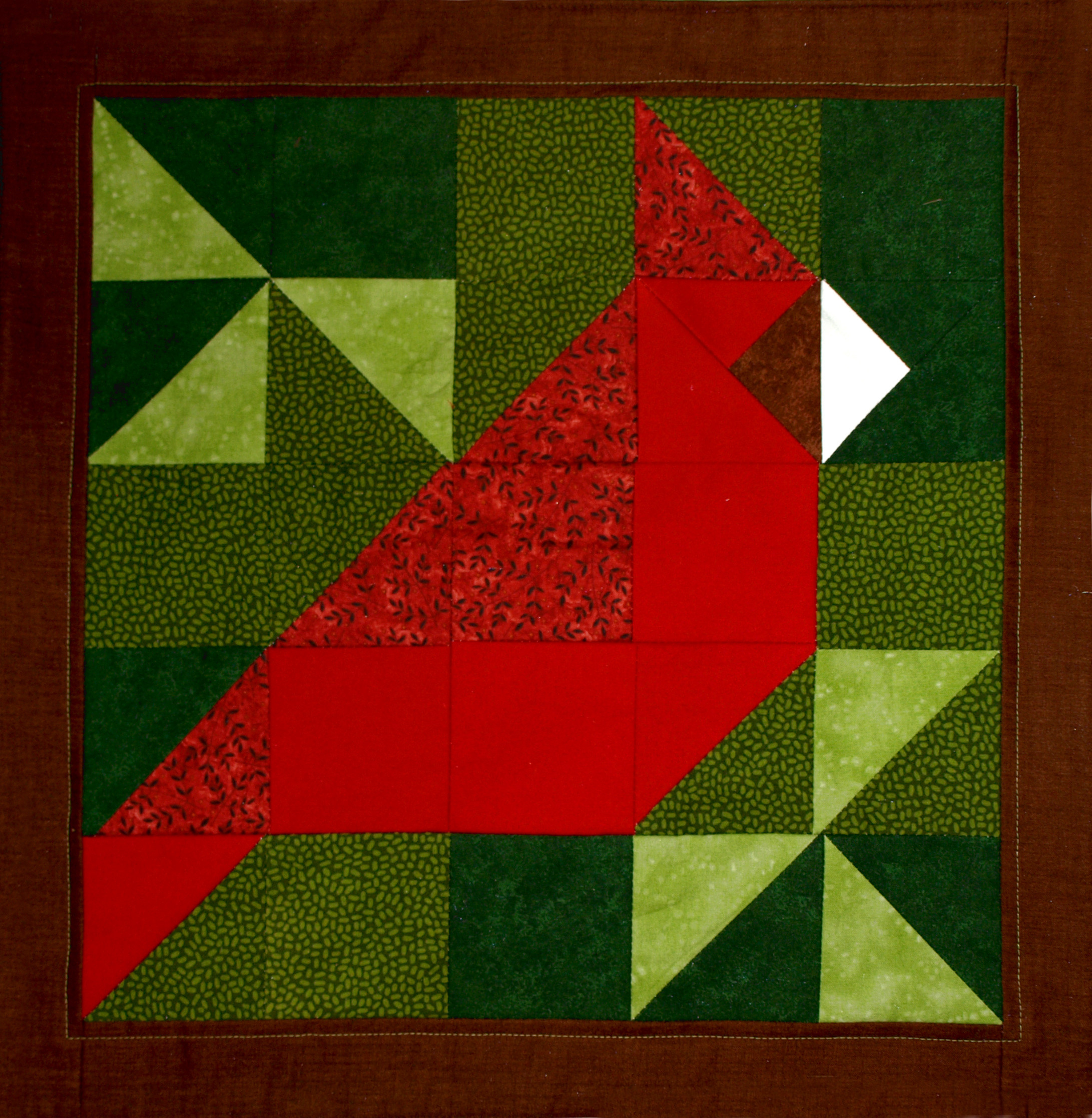 Red Patchwork Bird