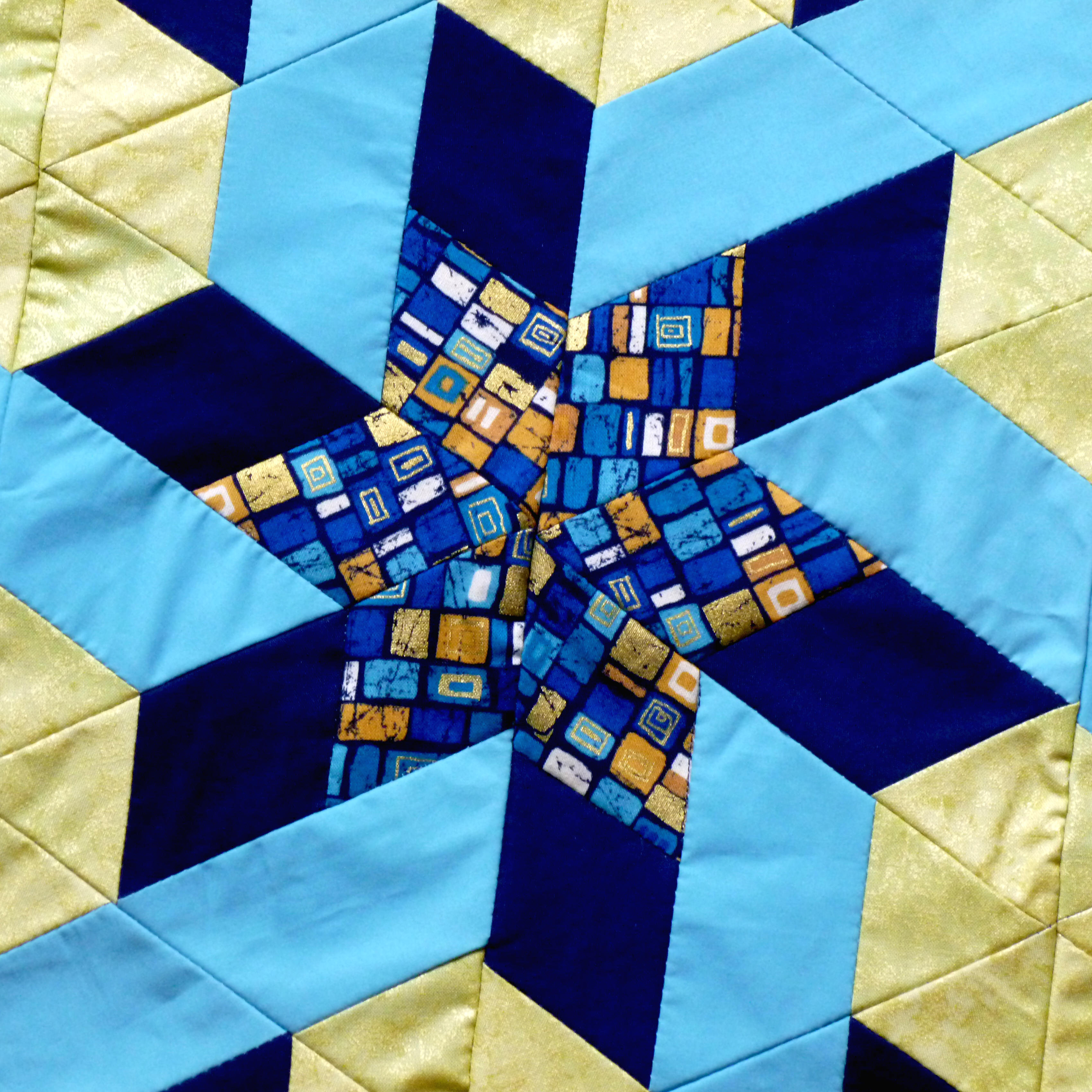 Detail of Oriental Star Patchwork