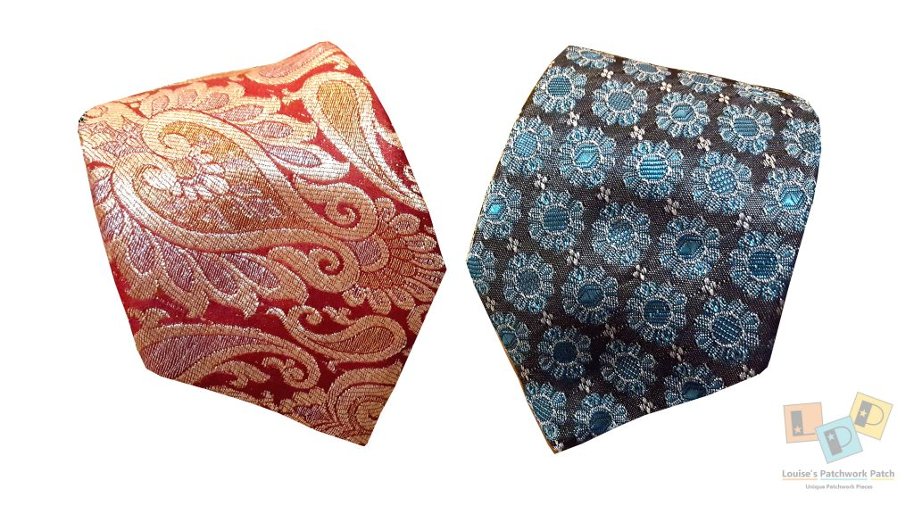 Blue flowers and red paisley silk and cotton blend tie.